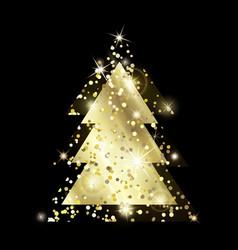 Gold xmas tree 2 exp-11 vector