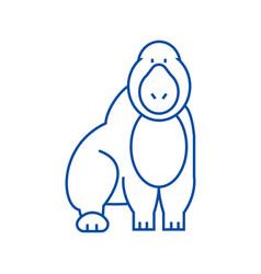 gorilla line icon concept gorilla flat vector image