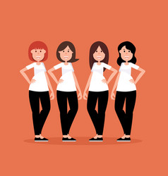 group women people a happy concept women smile vector image