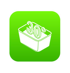 hand wash 30 degrees celsius icon green vector image