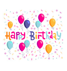 happy birthday hand drawn lettering design vector image