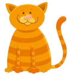 Happy cat cartoon animal character vector