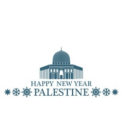 Happy New Year Palestine vector image