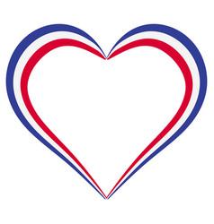 heart shape flag france i love france vector image