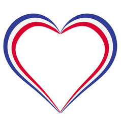heart shape flag of france i love france vector image