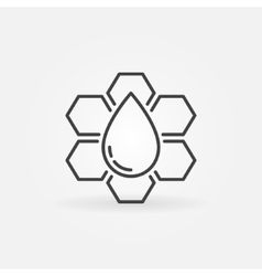 Honeycomb outline icon vector