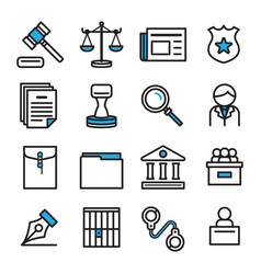 Icon design for law concept icon design set vector