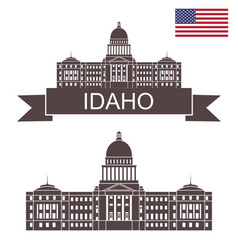 idaho vector image