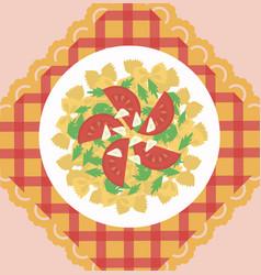 Italian pasta dish concept vector