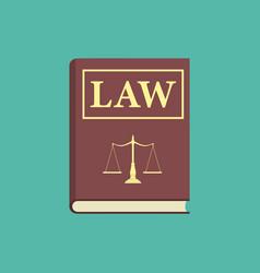 law book icon vector image