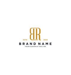 Letter br logo design vector