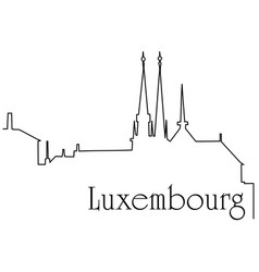 Luxembourg city one line drawing background vector