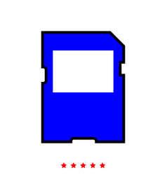 Memory card it is icon vector