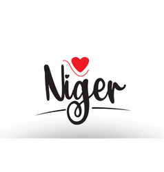 niger country text typography logo icon design vector image