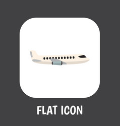 of car symbol on plane flat vector image
