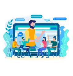 Online coaching online training web vector
