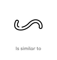 Outline is similar to icon isolated black simple vector