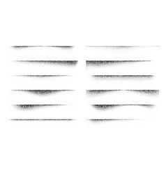 Paper stipple shadow set vector