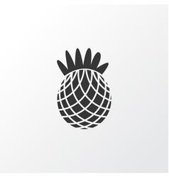 pineapple icon symbol premium quality isolated vector image