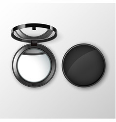 Pocket make up small mirror on background vector