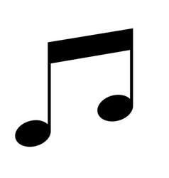Quarter notes musical symbol vector
