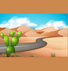 road trip in the desert vector image