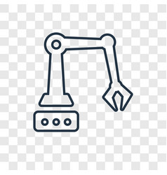 robotic arm concept linear icon isolated on vector image