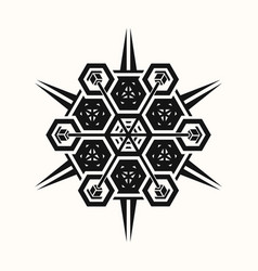 sacred geometry 0076 vector image