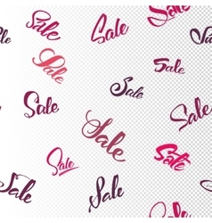 Sale seamless pattern - word written and vector image