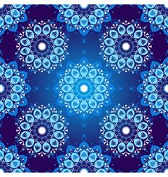 Seamless dark blue vintage christmas pattern vector image