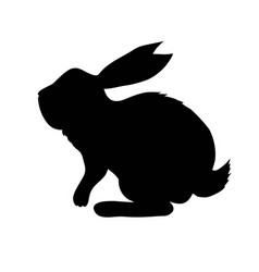 silhouette rabbit vector image