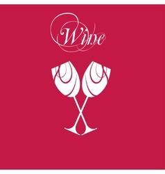Sparkling wineglasses with wine vector