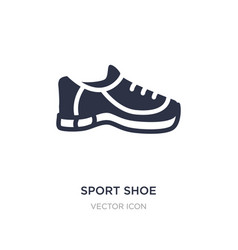 Sport shoe icon on white background simple vector