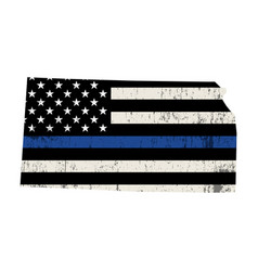 state kansas police support flag vector image