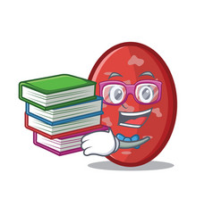 Student with book salami mascot cartoon style vector