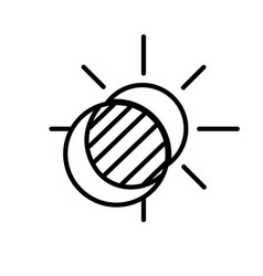 sun and moon eclipse icon vector image