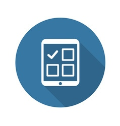Tablet Check List Icon Flat Design vector