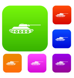 tank set collection vector image