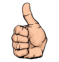 Thumbs up vector