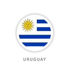 Uruguay circle flag template design vector