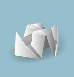 With origami vector