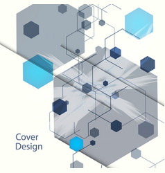 abstract hexagon background for business web vector image vector image