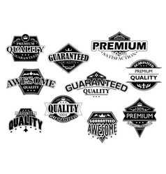 Retro labels and banners set vector image vector image