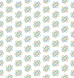 Seamless Pattern of Atomic Symbols for Science vector image