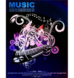 colorful concert poster vector image vector image