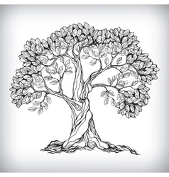 Hand drawn tree symbol vector