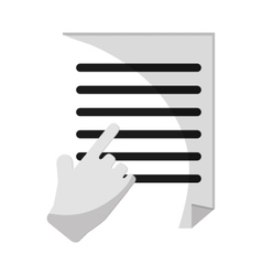Isolated document paper and cursor design vector