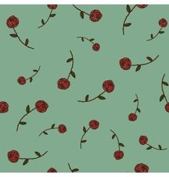 Roses seamless pattern Sketch design elements vector image