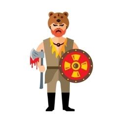 Viking Flat style colorful Cartoon vector image vector image