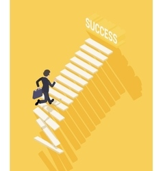Way to success in business vector image vector image